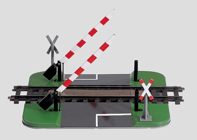 Mechanically Activated Railroad Grade Crossing.