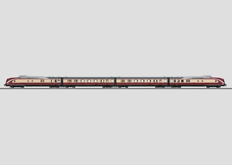 TEE Diesel Powered Rail Car Train.