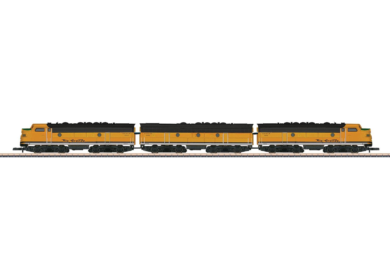 US-dieselelektrische Lokomotive als Dreifacheinheit