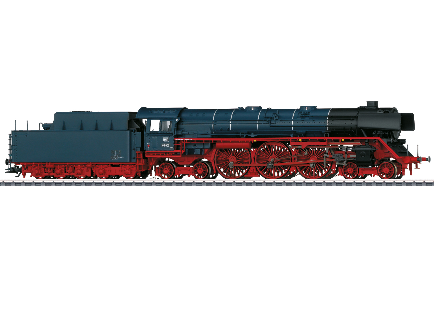 Express Steam Locomotive with a Tender.