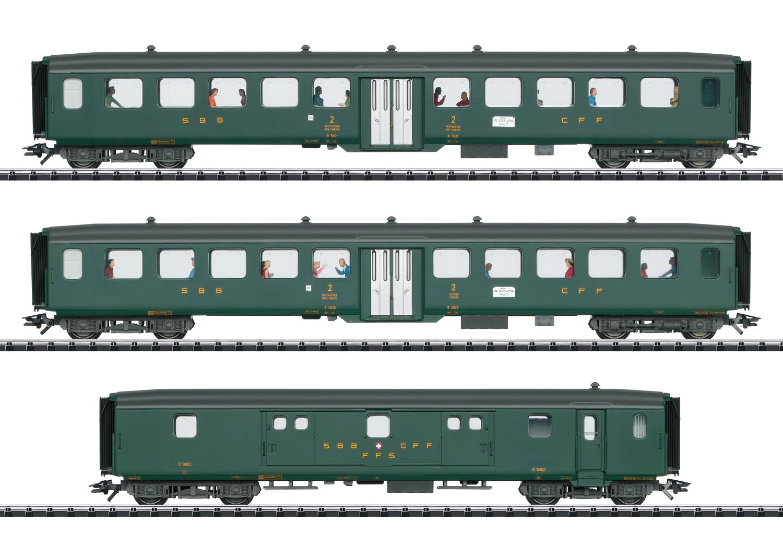 """Schnellzugwagen-Set 2 """"D96 Isar-Rhone"""""""