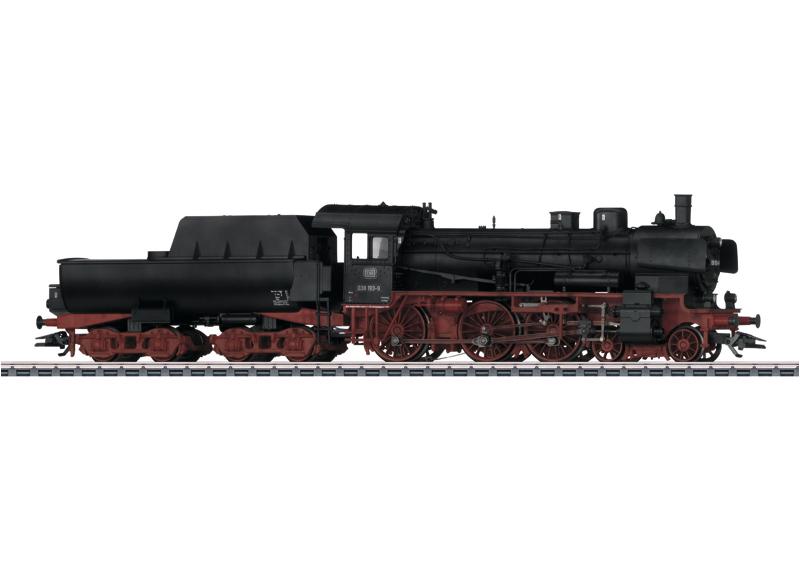 Personenzug-Dampflokomotive mit Wannentender