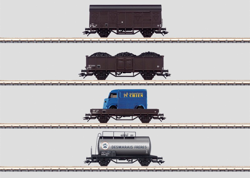 Set - 12 Freight Cars in a Display.
