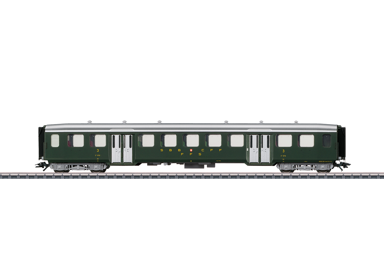 MÄRKLIN 43382 Leichtstahl-Sitzwagen der SBB 3 Klasse #NEU in OVP#