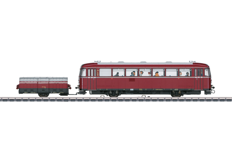 VT 95.9 Rail Bus with a VB 141.2 Single-Axle Trailer Car