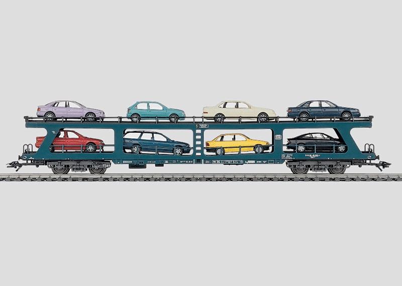 Reisezug-Autotransportwagen.