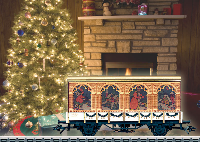 Kerstmiswagen H0 2007.