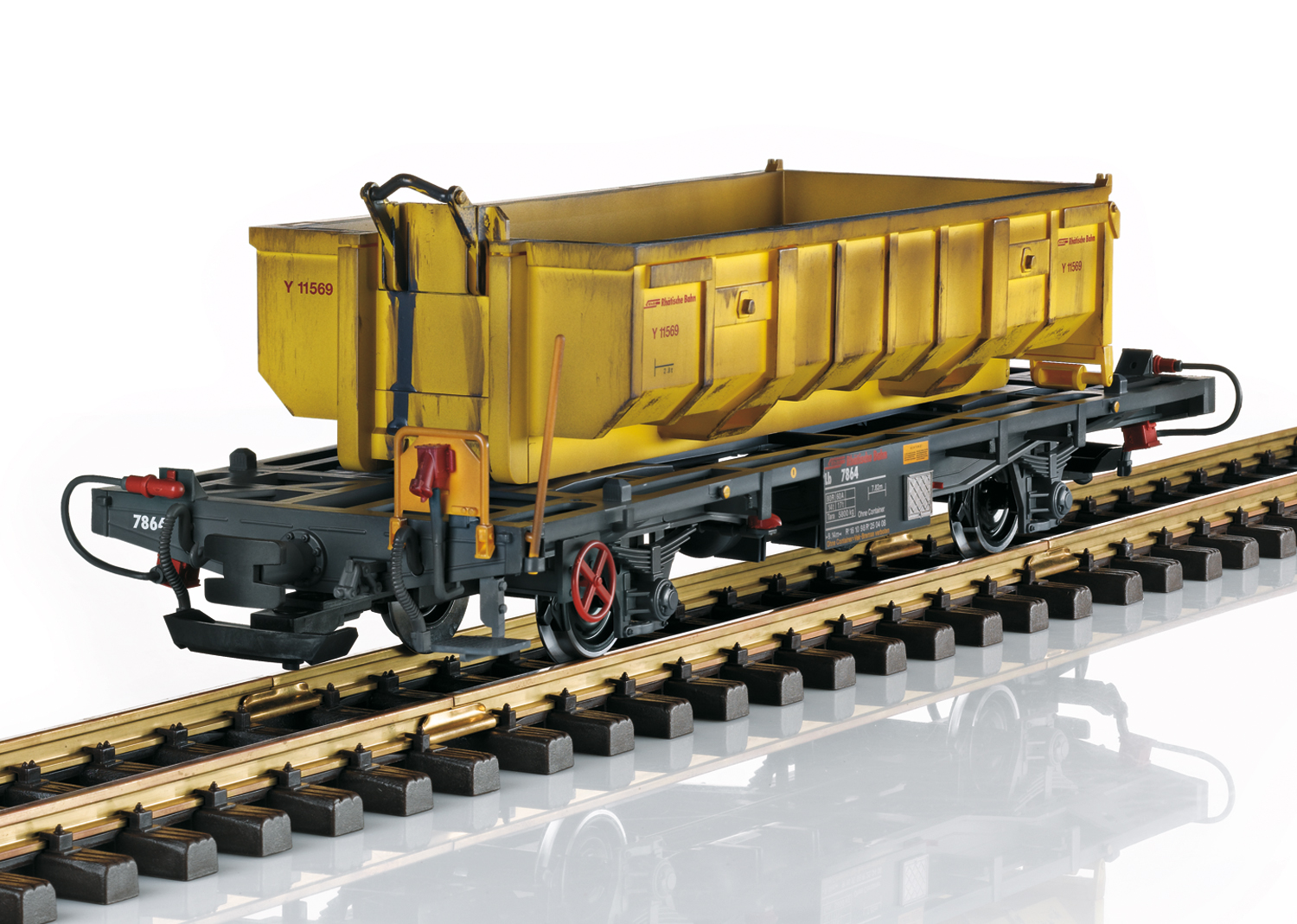 RhB Container Transport Car with Waste Removal Hopper