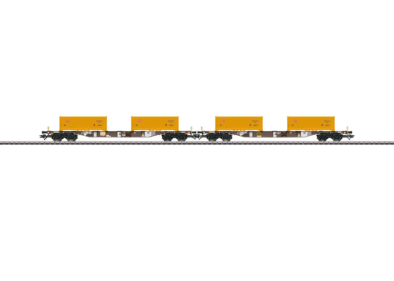 """Soil Excavation Stuttgart 21"" Container Transport Car Set"