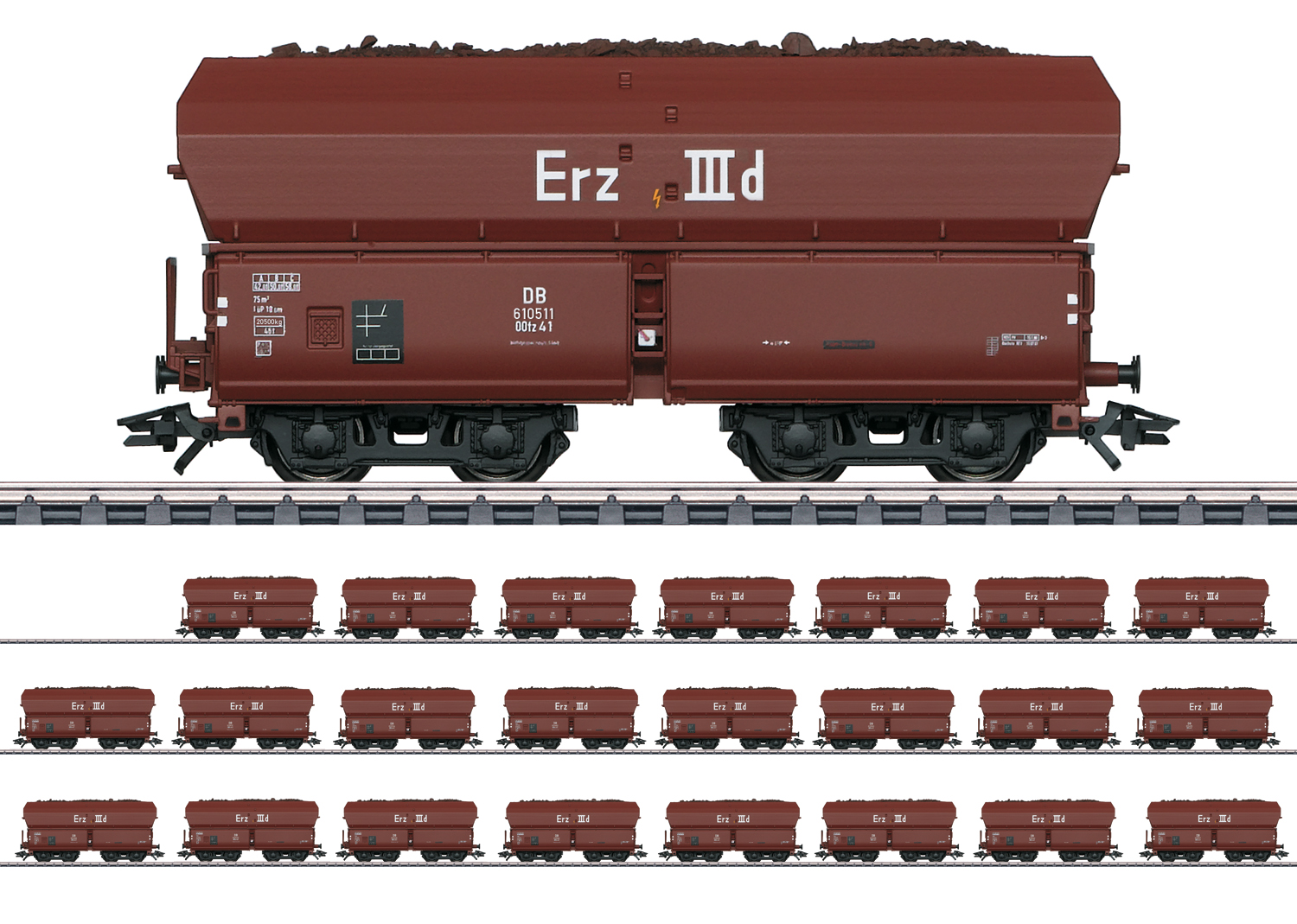 """Type Erz IIId Hopper Car"" Display"