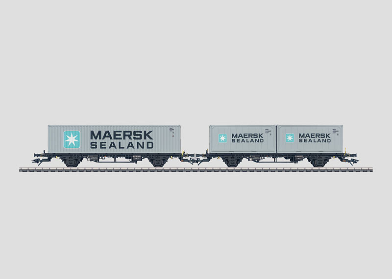 Set with 2 Flat Cars for Containers.