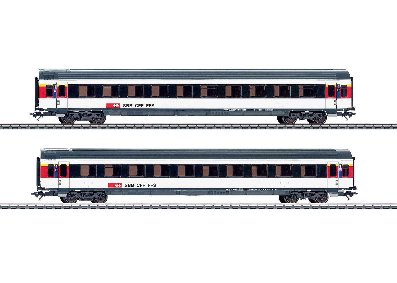 Express Train Passenger Car Set