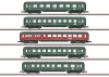 Express Train Skirted Passenger Car Set