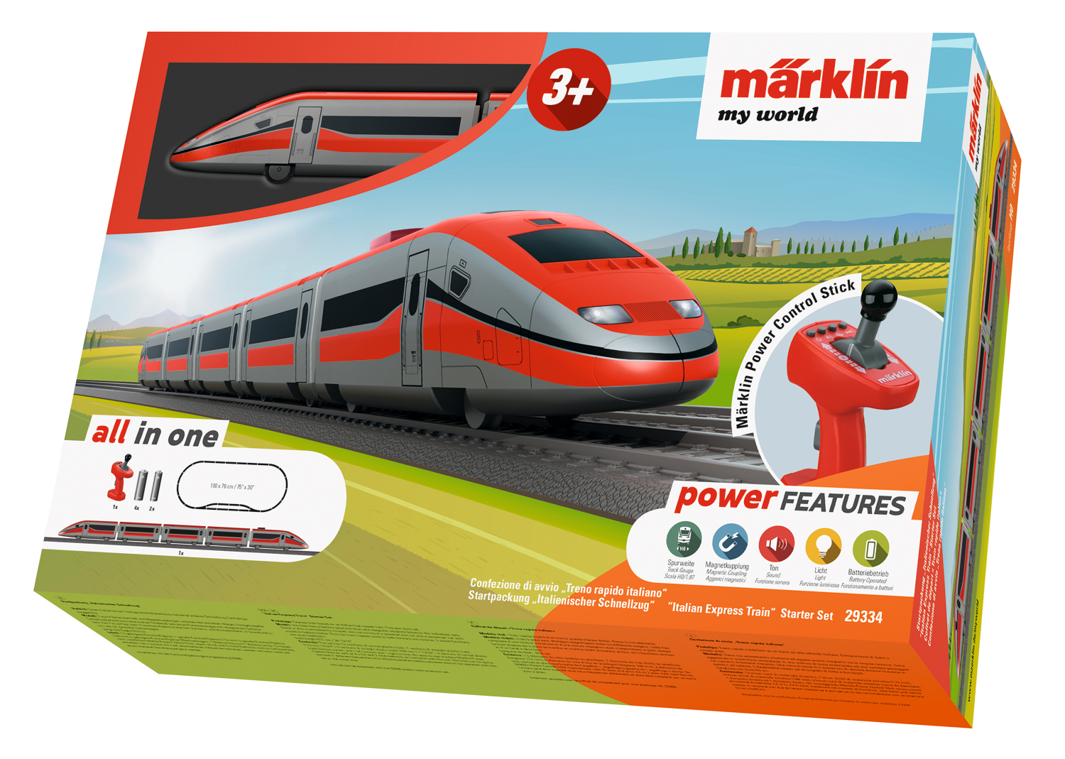 Marklin My World Vario Train Track 3 13//32 4 23//32 5-Piece