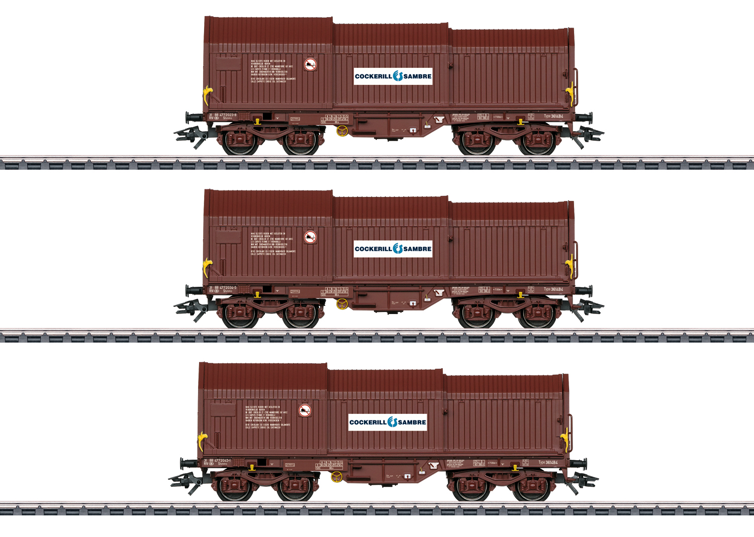 Freight Car Set with Three Telescoping Cover Cars