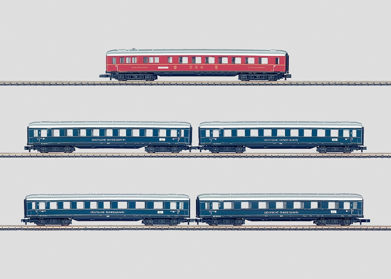 """Lorelei"" Express Train Passenger Car Set."