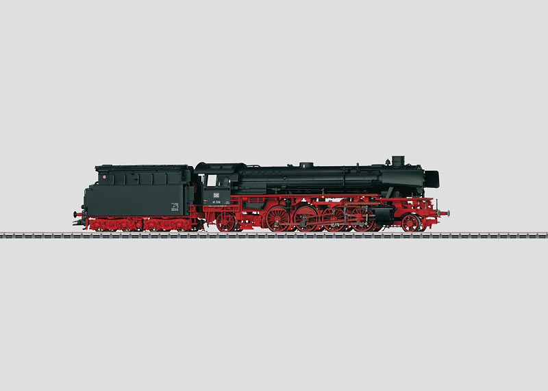 Steam Freight Locomotive with a Tender.
