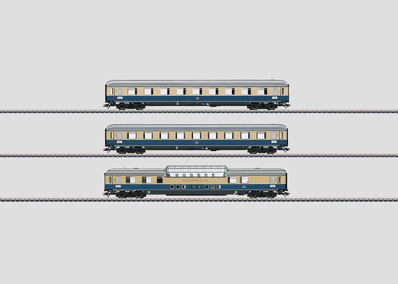 """Rheingold 1962"" Express Train Passenger Car Set 1."