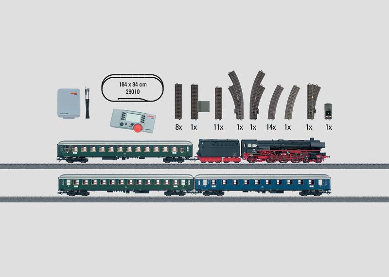 """Passenger Train"" Digital Starter Set. Includes a Large C Track Layout and a Mobile Station. 230 Volts."