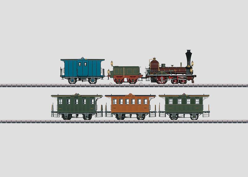 Historischer Personenzug.