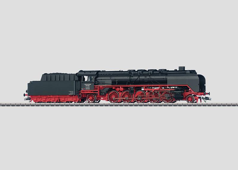 Schwere Dampflokomotive mit Schlepptender.