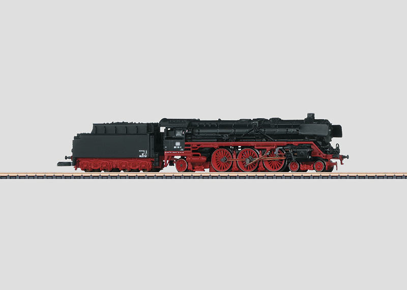 Express Train Locomotive with a Tender.