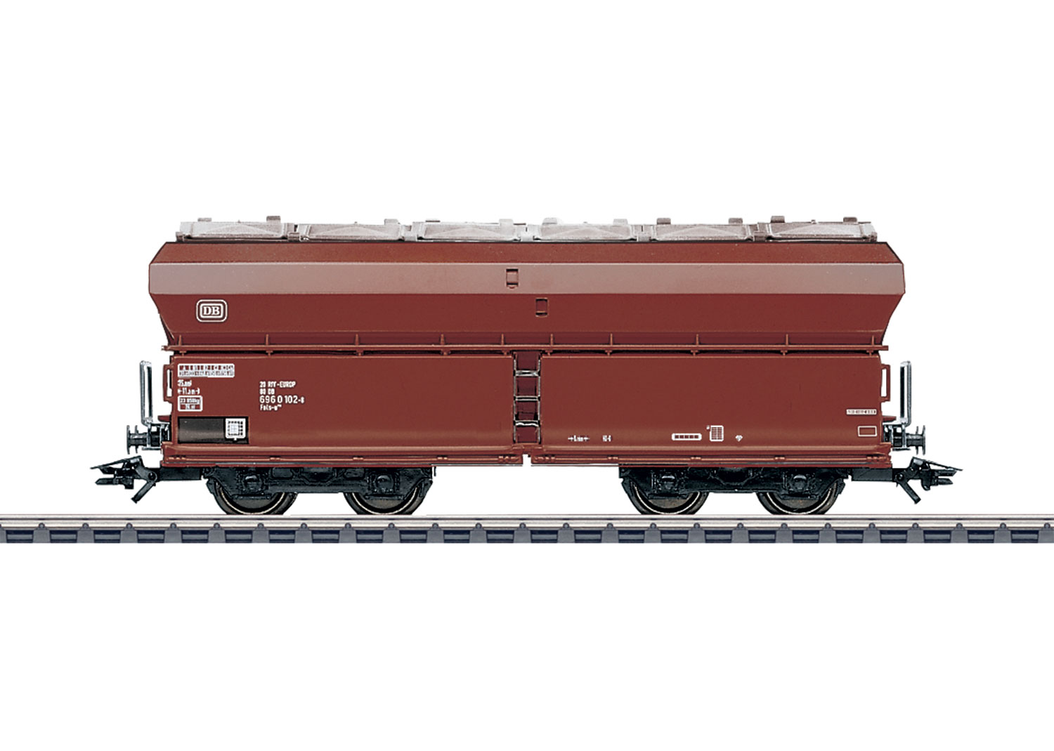 Hopper Car with Hinged Roof Hatches