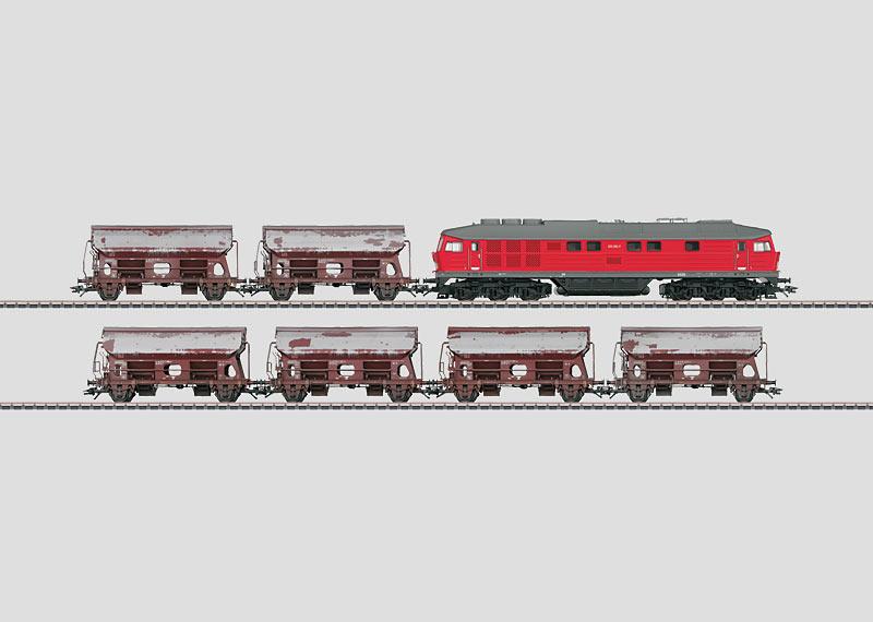 """Güterzug """"Kalktransport""""."""