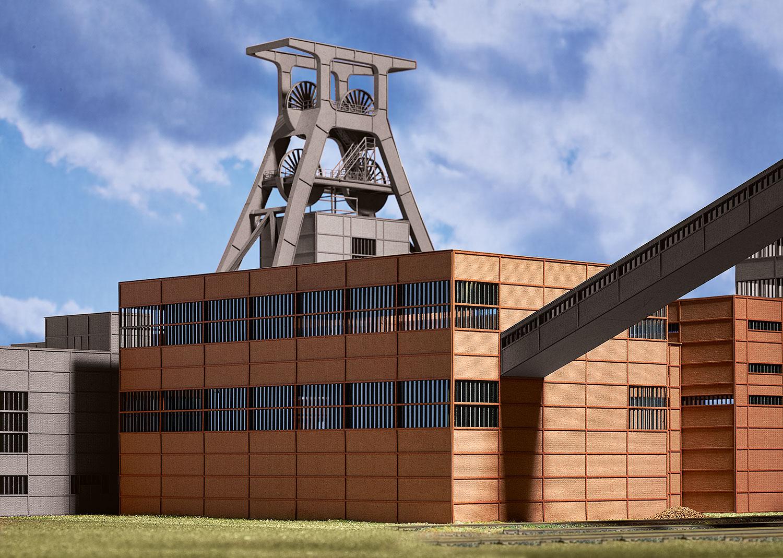 Vorbild: Zeche Zollverein Sortieranlage in Essen. Baujahr ab 1929/30.