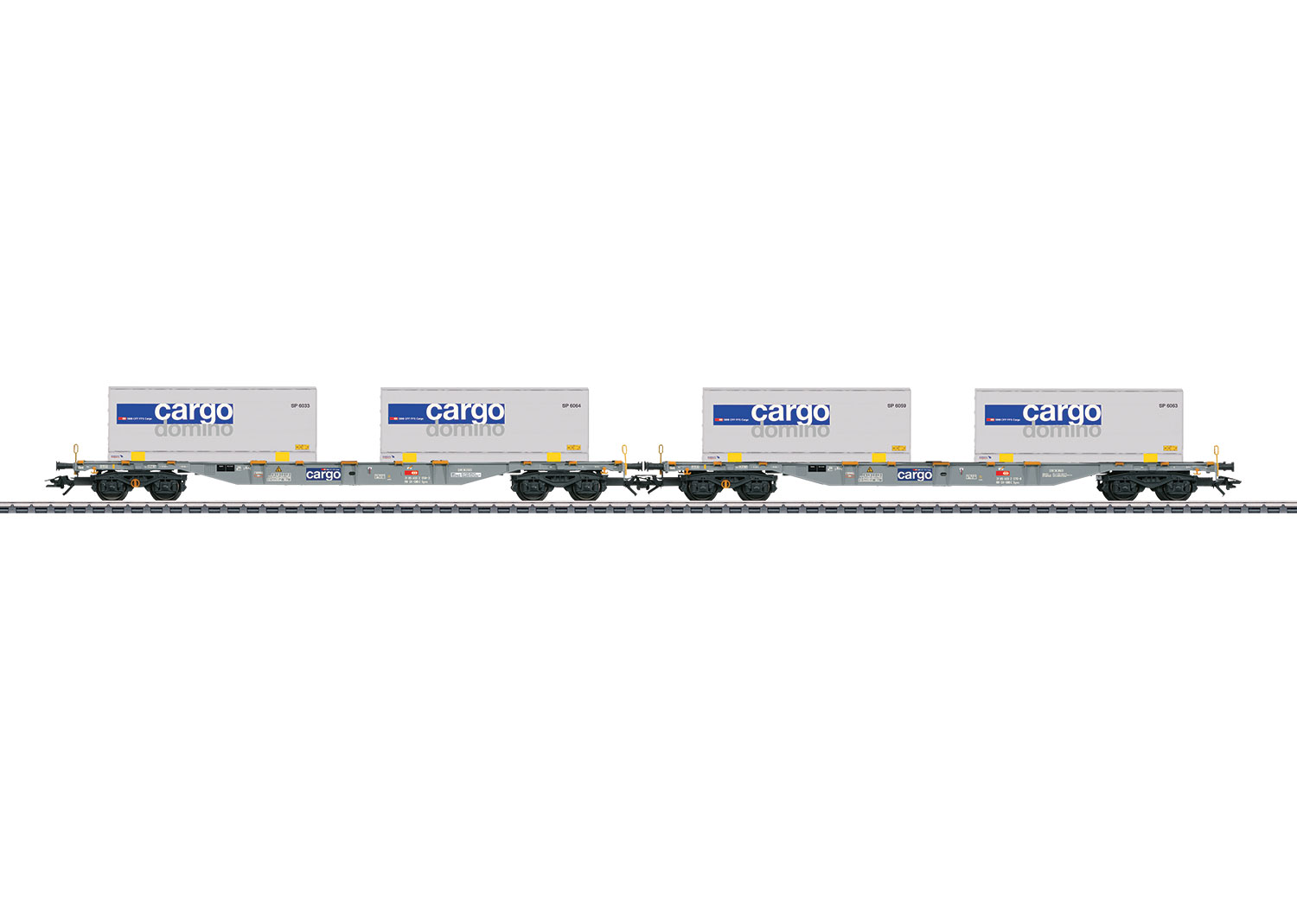Two Type Sgnss Container Flat Cars with Interchangeable Transport Units