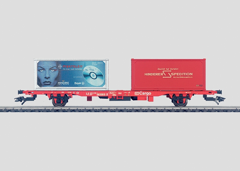 Flat Car for Transporting Containers.