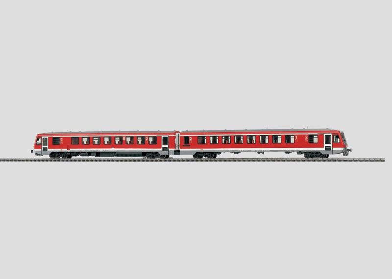Diesel Powered Rail Car Train.
