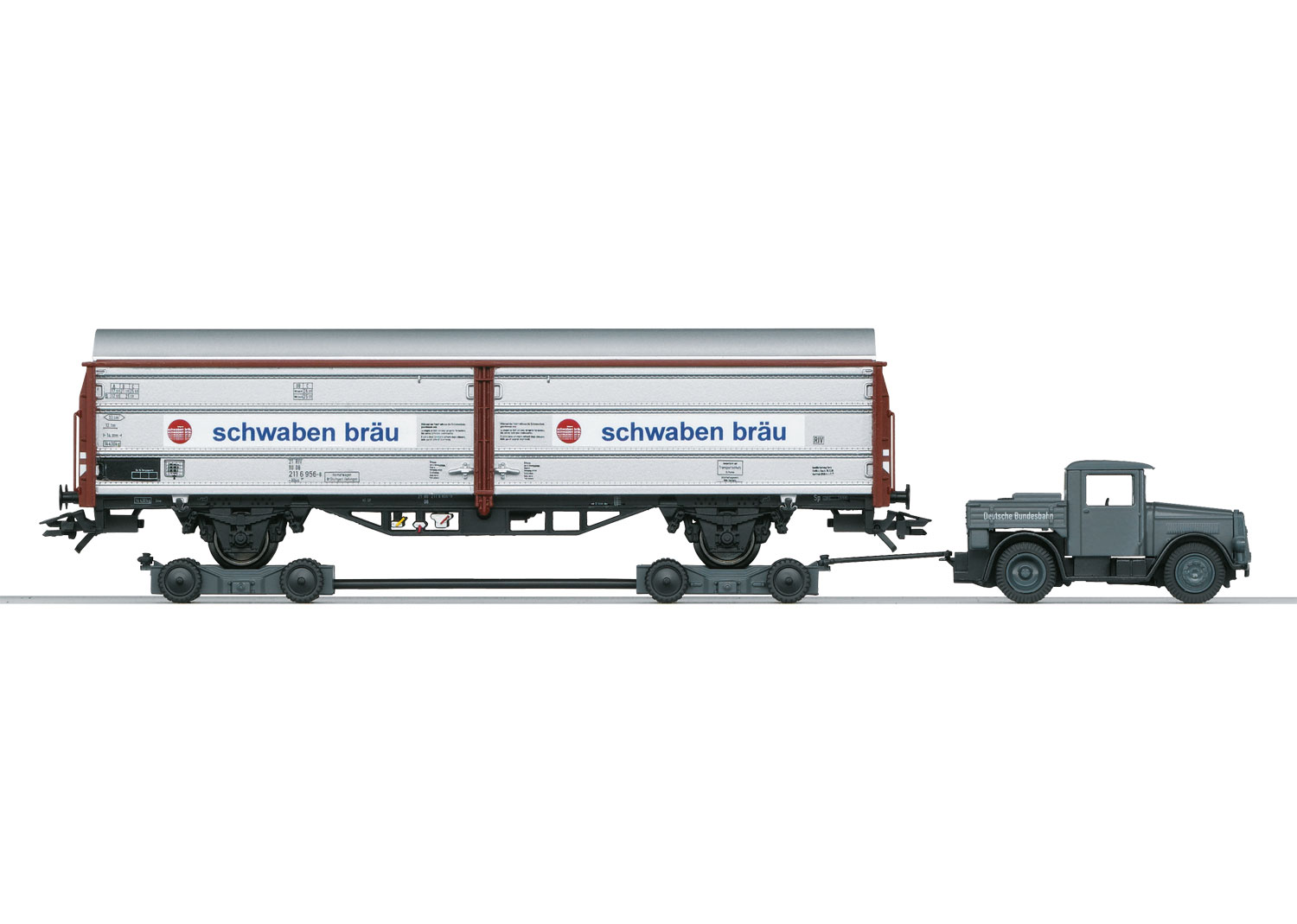 Sliding Wall Boxcar with a Kaelble and a Culemeyer Trailer