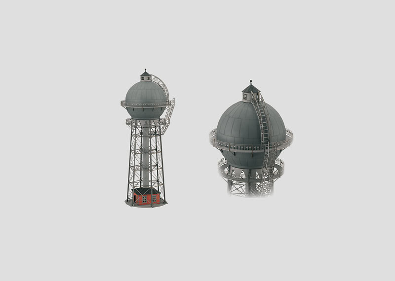 Finished Model of a Water Tower.