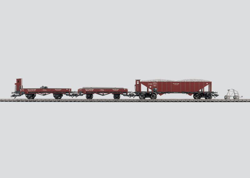 """""""Track Maintenance Train"""" Car Set."""