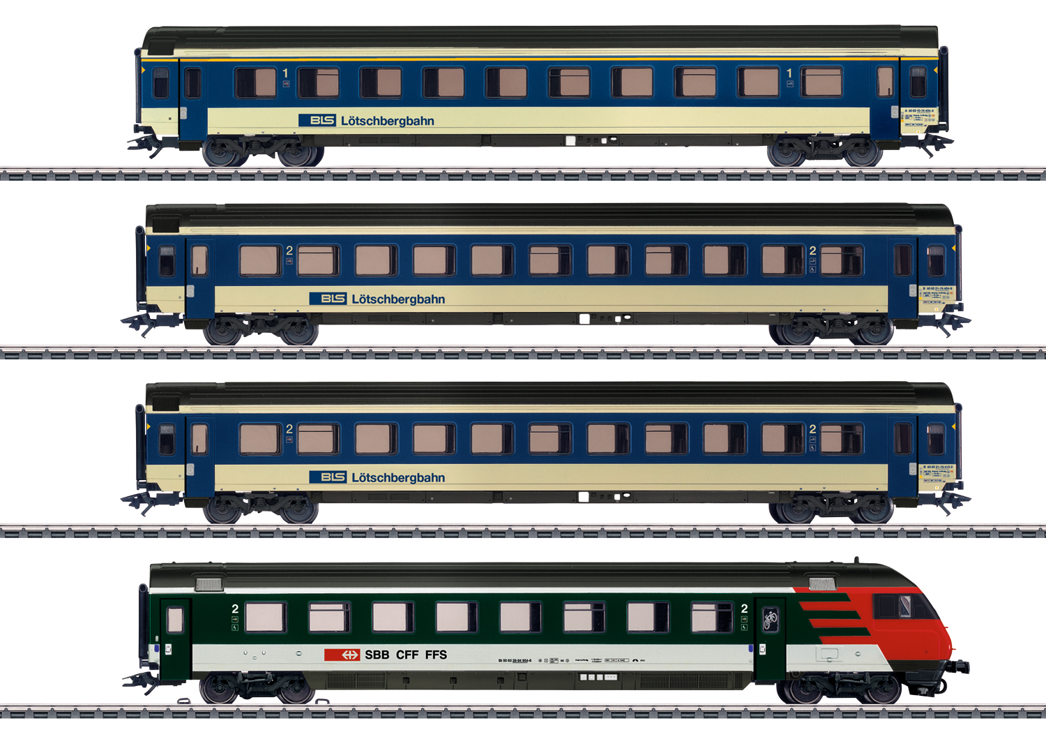 Mark IV Express Train Passenger Car Set
