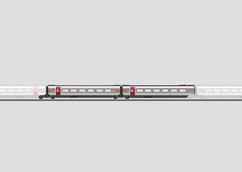 Set met aanvullende rijtuigen 1 voor TGV Lyria.