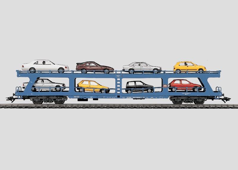 Passenger Train Auto Transport Car.
