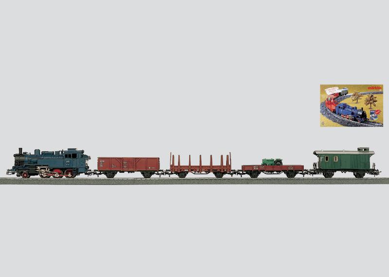 Güterzugpackung ´Mein Start mit Märklin´ mit C-Gleisoval und Transformator