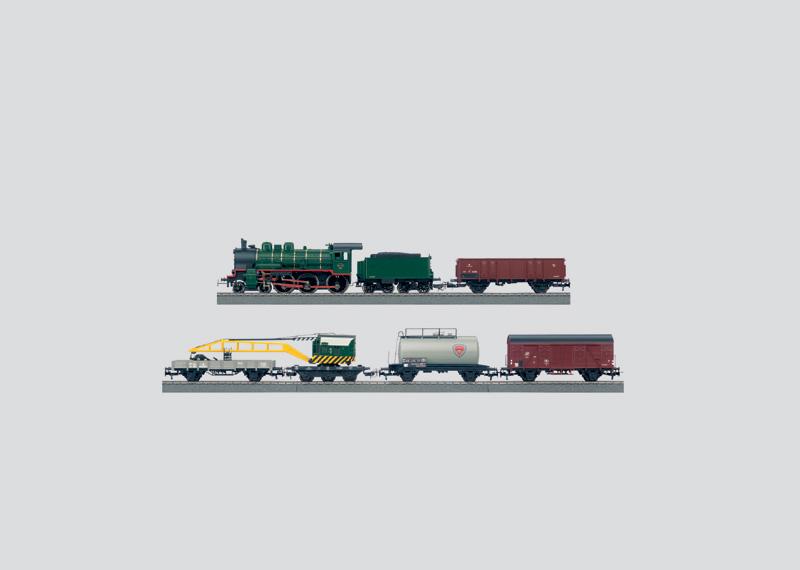 Goederentreinset met grote C-railmodelbaan, transformator en DELTA-Control.