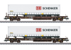 """DB Schenker"" Deep Well Flat Car Set"