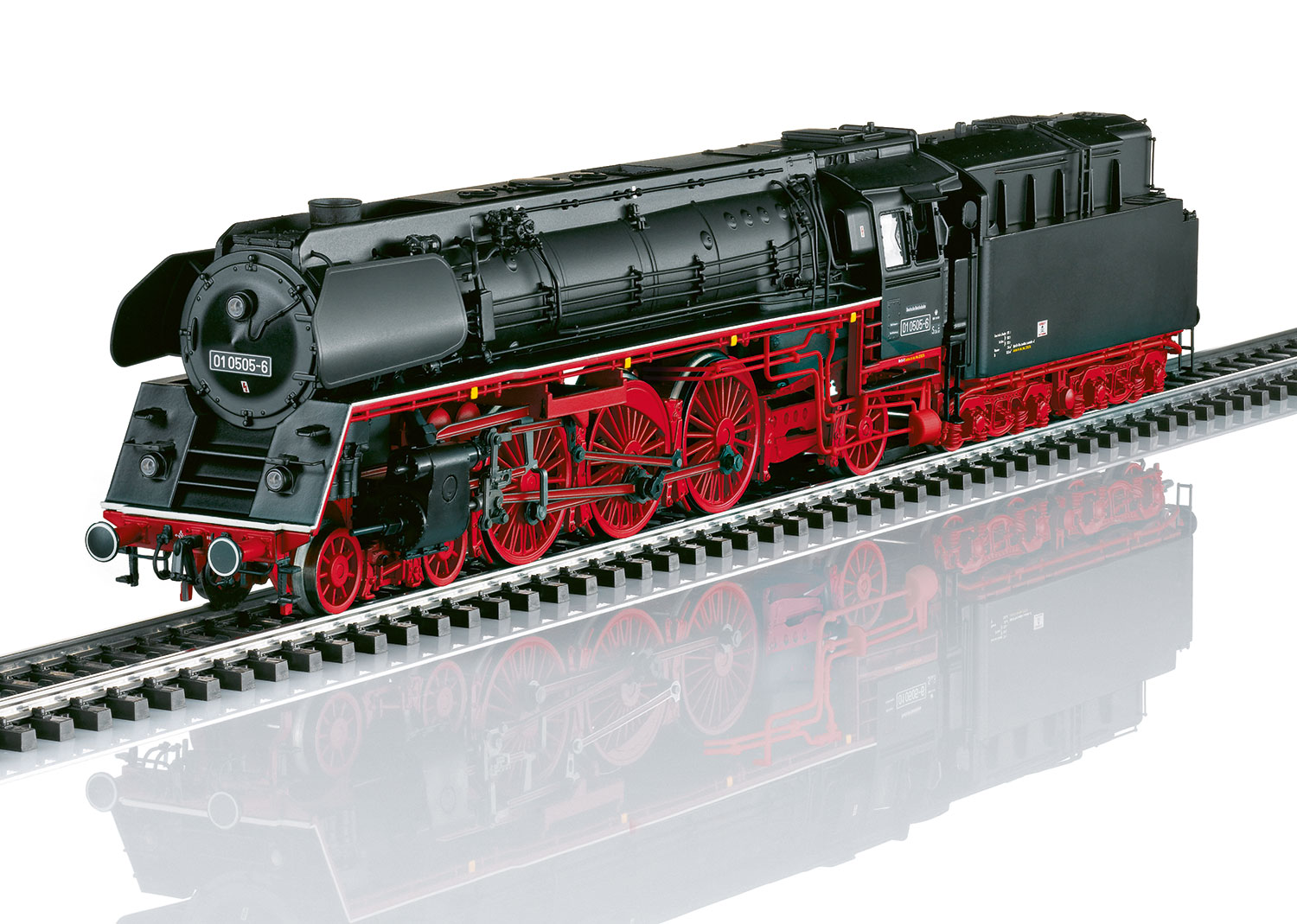 Steam Express Locomotive with a Tender.