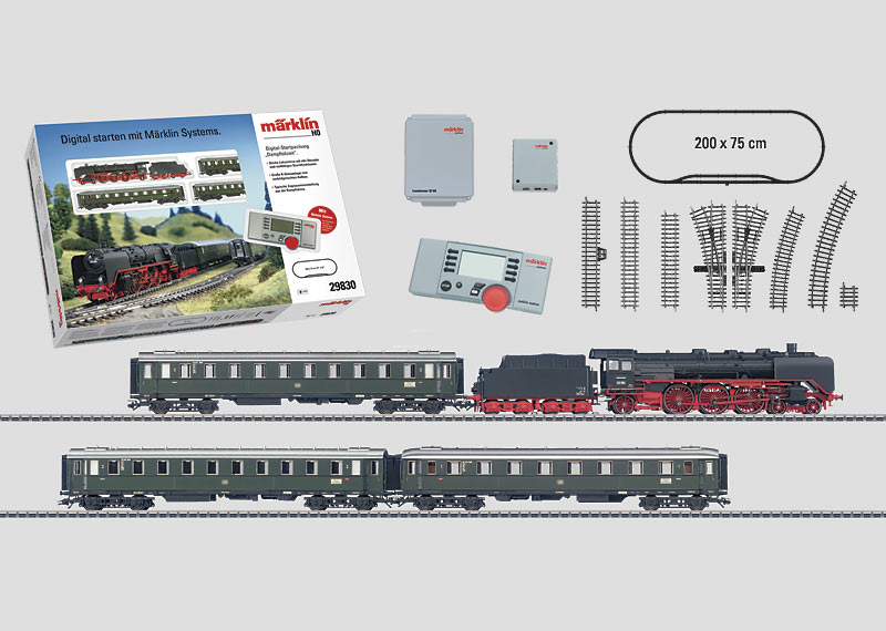 """""""Era III"""" Digital Starter Set. With a Large K Track Layout and a Mobile Station. 230 Volts."""