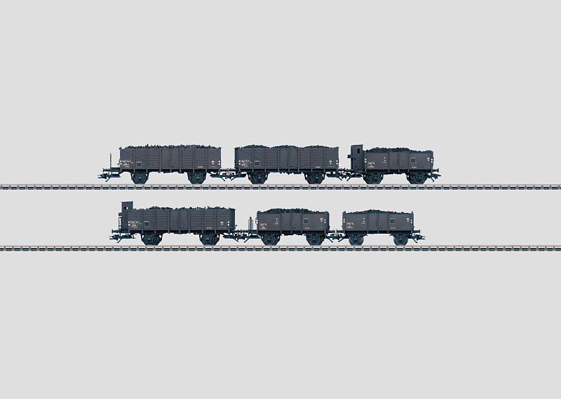 Set with 6 Freight Cars.