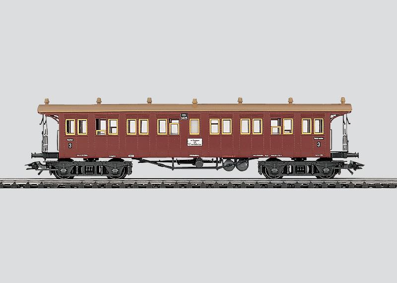 Express Train Open Platform Passenger Car.