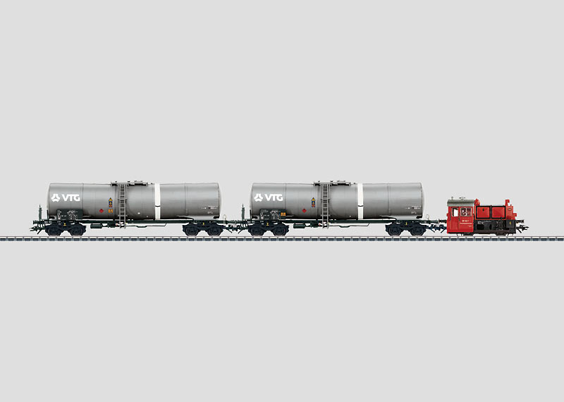 Switching Train, Tank Cars for Inspection.