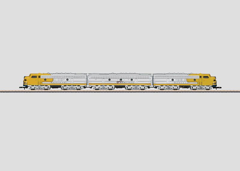 American Diesel Electric Locomotive as a Three Unit Motive Power Combination.