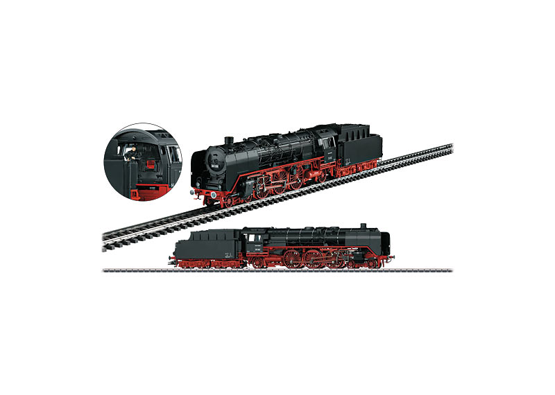 Express Steam Locomotive with a Tender
