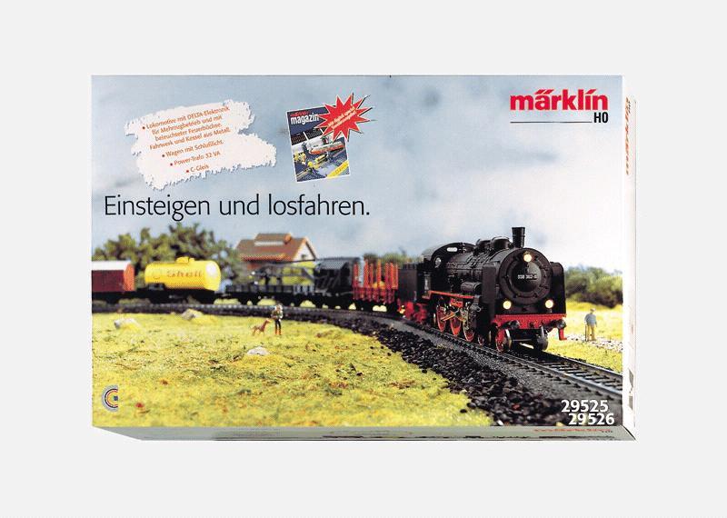 Güterzugpackung mit grosser C-Gleis-Anlage, Transformator und DELTA-Control, 120Volt