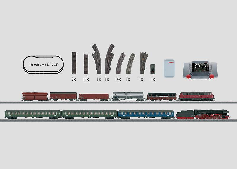 "Digitale Mega-Startpackung ""Bundesbahn"" 230 Volt."